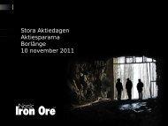 Nordic Iron Ore.pdf - Aktiespararna