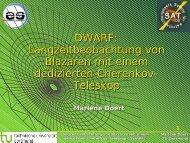 DWARF: Langzeitbeobachtung von Blazaren ... - Astroteilchenschule
