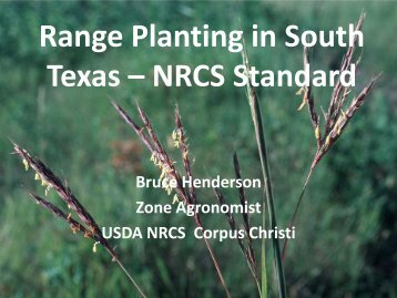 Range Planting in South Texas – NRCS Standard