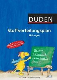 Stoffverteilungsplan Thüringen - Duden