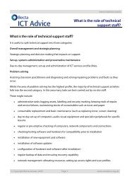 What is the role of technical support staff
