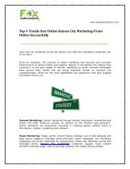 Top 6 Trends that Online Kansas City Marketing Firms Utilize Successfully