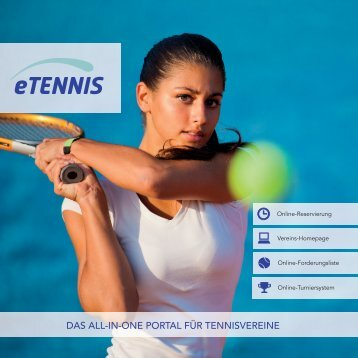 DAS ALL-IN-ONE PORTAL FÜR TENNISVEREINE