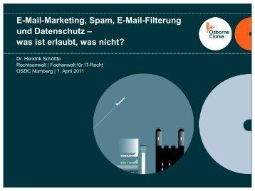 E-Mail-Marketing, Spam, E-Mail-Filterung und Datenschutz - netways