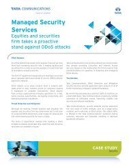 Managed Security Services - Tata Communications