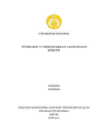 interaksi kn berdasarkan lagrangian efektif - Universitas Indonesia