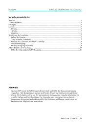 Aufbau und Inbetriebnahme LCD_MODUL3 - microSPS
