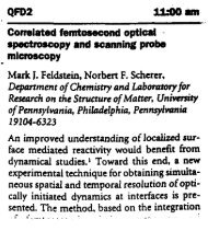 Correlated Femtosecond Optical Spectroscopy and Scanning Probe ...