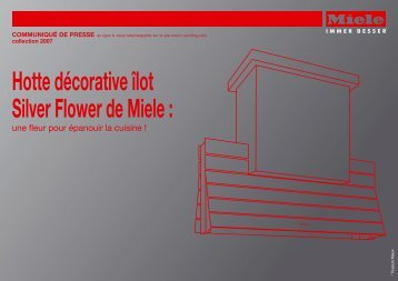 Hotte décorative îlot Silver Flower de Miele :