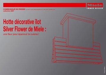 Hotte décorative îlot Silver Flower de Miele :