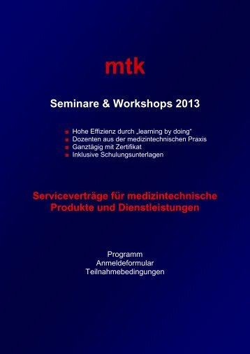 Information und Anmeldung (261.54 kb) - MTK Peter Kron GmbH