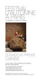 Dossiers de presse - Festival d'automne à Paris