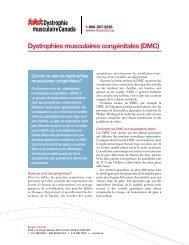 Dystrophies musculaires congénitales (DMC)