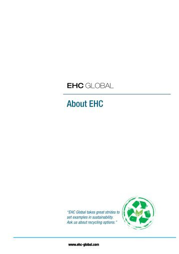 Products & Services Catalogue - EHC Global