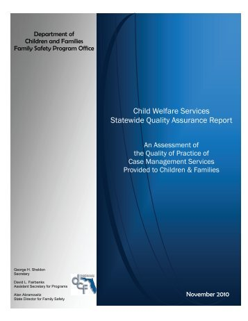 Child Welfare Services Statewide Quality Assurance Report - Florida ...