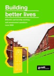 Building better lives - Effective parternship working - Audit Commission