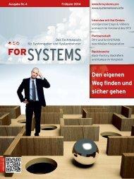 forSYSTEMS Frühjahr 2014 - Fachmagazin für Systemgeber und Systemnehmer