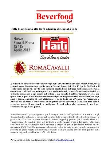 Caffè Haiti Roma alla terza edizione di RomaCavalli