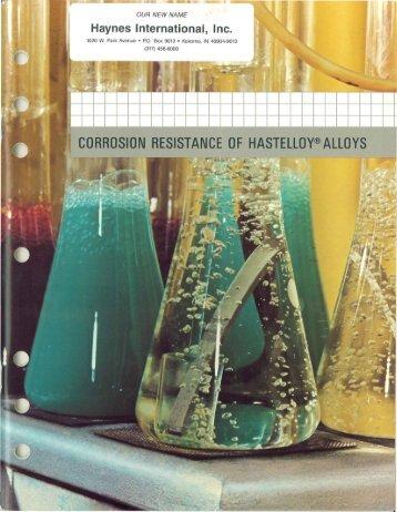 CORROSION RESISTANCE OF HASTEllOY®AllOYS - Haynes ...