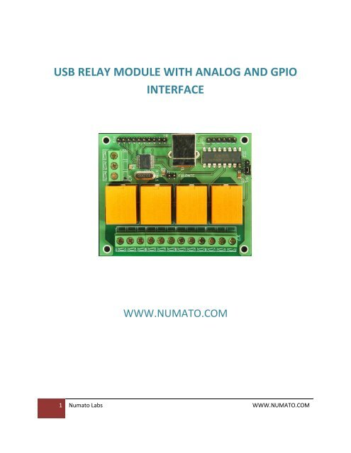 usb relay module with analog and gpio interface - New Products