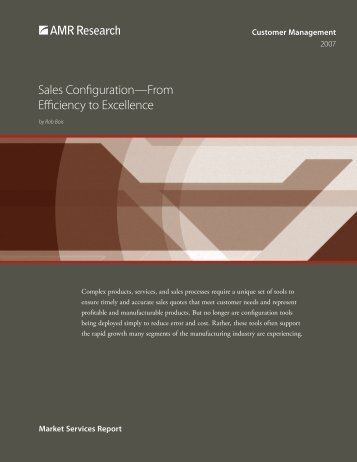 Sales Configuration—From Efficiency to Excellence - BigMachines