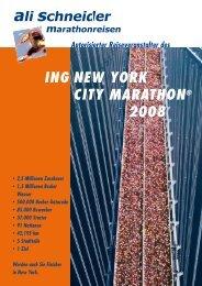 ING NEW YORK CITY MARATHON® 2008 - Ali Schneider ...