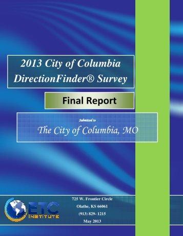 2013 citizen survey - City of Columbia, Missouri