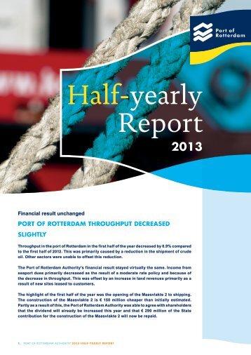 Half-yearly report 2013 - Port of Rotterdam
