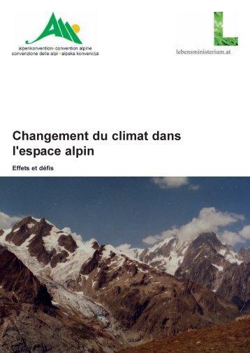 PLANALP Changement du climat dans l'espace alpin - Planat