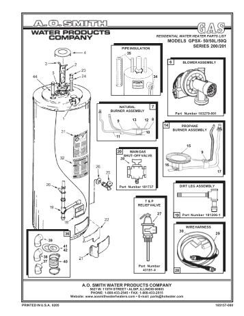 Ao Smith Electric Water Heater Wiring Diagram on ge electric water heater wiring diagram