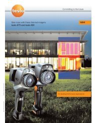 See more with these thermal imagers testo 875 and ... - MurCal, Inc.