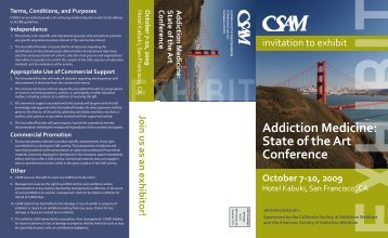 Addiction Medicine: State of the Art Conference - California Society ...