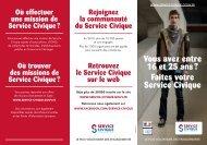 Téléchargez le dépliant Service Civique
