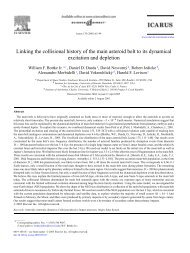 Linking the collisional history of the main asteroid belt to its ...