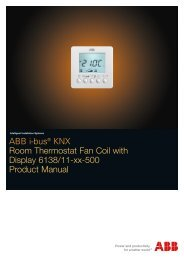 ABB i-bus® KNX Room Thermostat Fan Coil with Display 6138/11 ...