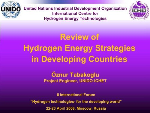 Hydrogen Strategies in Developing Countries