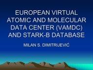 VAMDC and STARK-B - Observatoire de Paris