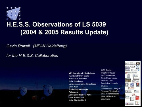 HESS Obs of LS5039