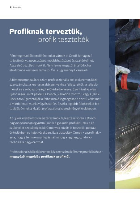 Professzionális kék elektromos kéziszerszámok ... - Bosch