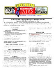 Agricultural & Competitive Exhibits Awards Program Sponsored by ...