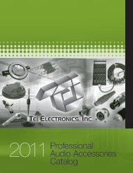 2011Professional Audio Accessories Catalog