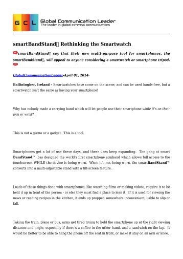 smartBandStand Rethinking the Smartwatch