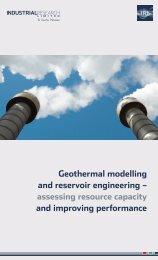 Geothermal modelling and reservoir engineering - Industrial ...