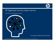 HP Application Security Center overview