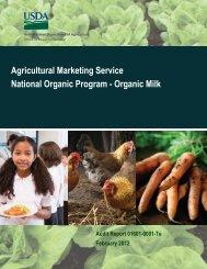 Agricultural Marketing Service National Organic Program - Organic ...
