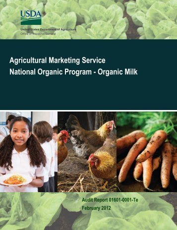 Agricultural Marketing Service National Organic Program - Organic ...