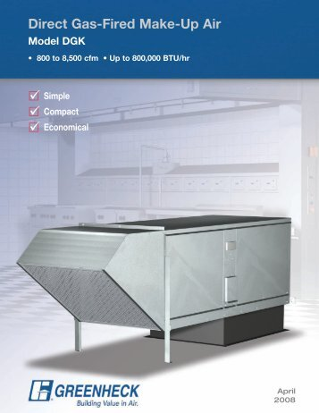 Vsu Make Up Air Unit With Direct Fired Gas Heater