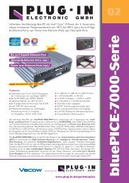 Lüfterlose Box-PCs der bluePICE-7000-Serie - PLUG-IN Electronic ...
