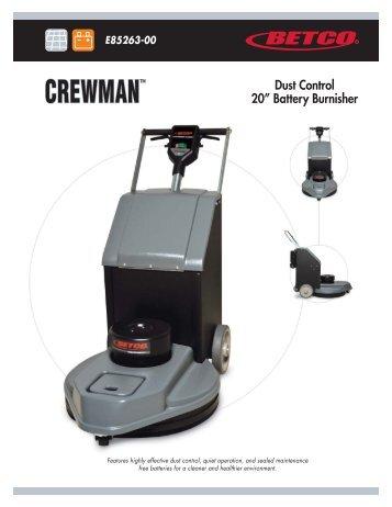 Crewman Battery Burnisher Spec Sheet - Betco Corporation