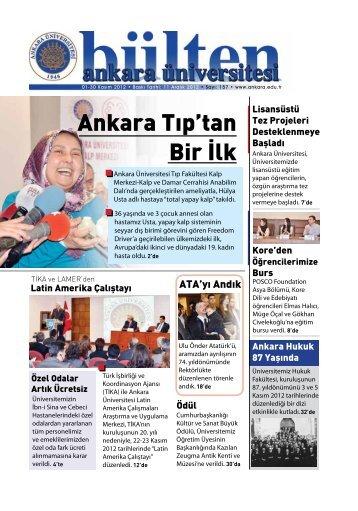 Ankara Tıp'tan Bir İlk - Ankara Üniversitesi
